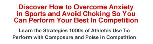 Overcome Sports Anxiety